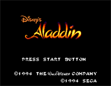 Aladdin - Screenshot - Game Title