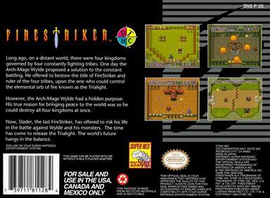 Firestriker - Box - Back