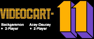 Videocart-11: Backgammon, Acey-Deucey - Clear Logo