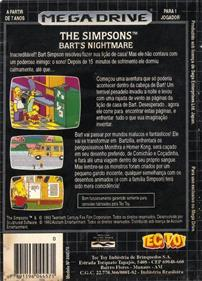 The Simpsons: Bart's Nightmare - Box - Back