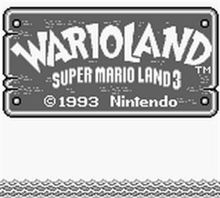 Wario Land: Super Mario Land 3 - Screenshot - Game Title