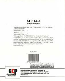 Alpha-1 - Box - Back