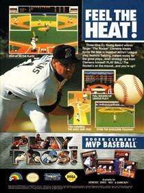 Roger Clemens' MVP Baseball - Advertisement Flyer - Front