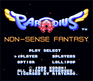 Parodius - Screenshot - Game Title