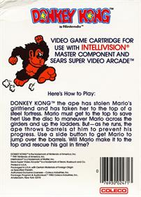 Donkey Kong - Box - Back