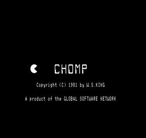 Chomp - Screenshot - Game Title
