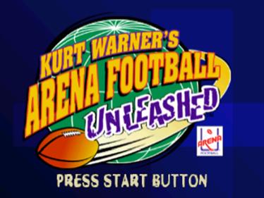 Kurt Warner's Arena Football Unleashed - Screenshot - Game Title