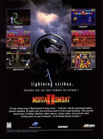 Mortal Kombat II - Advertisement Flyer - Front