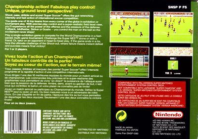 Super Soccer - Box - Back