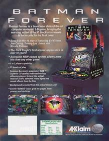 Batman Forever - Advertisement Flyer - Back