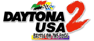 Daytona USA 2: Battle on the Edge - Clear Logo