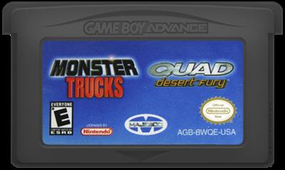 2 Games in 1: Quad Desert Fury + Monster Trucks - Cart - Front