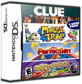 4 Game Pack!: Clue + Aggravation + Perfection + Mouse Trap - Box - 3D