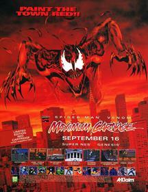 Spider-Man & Venom: Maximum Carnage - Advertisement Flyer - Front