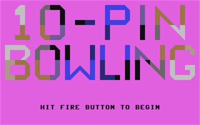 10-Pin Bowling - Screenshot - Game Title