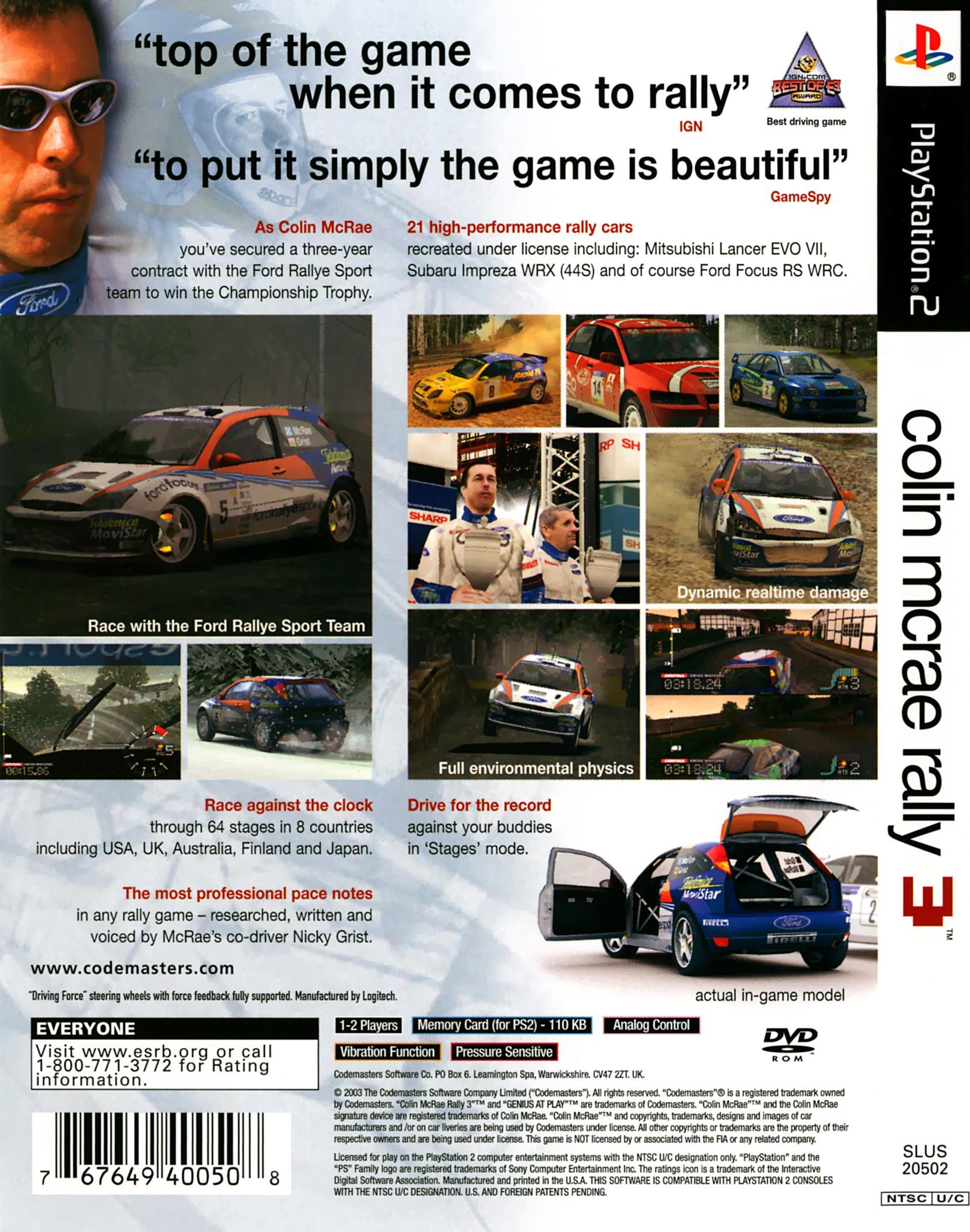 colin mcrae rally 3 details launchbox games database. Black Bedroom Furniture Sets. Home Design Ideas