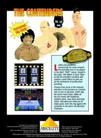 Title Match Pro Wrestling - Box - Back