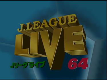 J.League Live 64 - Screenshot - Game Title