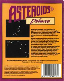 Asteroids Deluxe - Box - Back