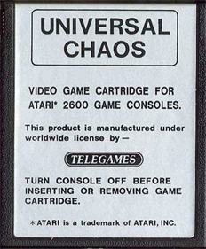 Universal Chaos - Cart - Front