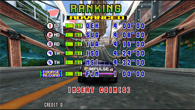 Daytona USA 2: Battle on the Edge - Screenshot - High Scores