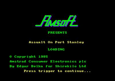 Assault on Port Stanley - Screenshot - Game Title