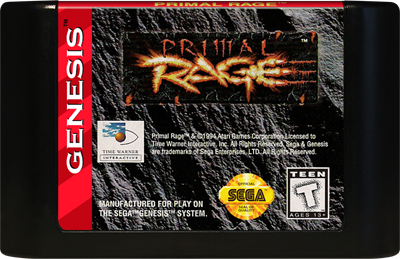 Primal Rage - Cart - Front