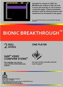 Bionic Breakthrough - Box - Back