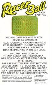 Racer Ball - Box - Back