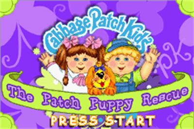 Cabbage Patch Kids: The Patch Puppy Rescue - Screenshot - Game Title