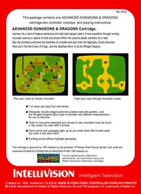 Advanced Dungeons & Dragons: Cloudy Mountain - Box - Back - Reconstructed