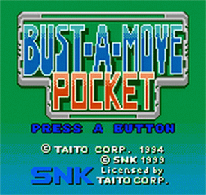 Bust-A-Move Pocket - Screenshot - Game Title
