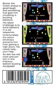 Balloon Buster - Box - Back