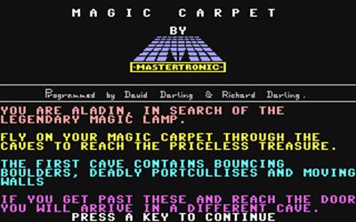 Magic Carpet - Screenshot - Game Title