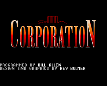 Corporation - Screenshot - Game Title