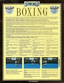 3D World Boxing - Box - Back