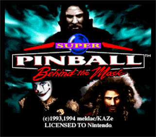 Super Pinball: Behind the Mask - Screenshot - Game Title