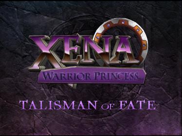 Xena: Warrior Princess: The Talisman of Fate - Screenshot - Game Title