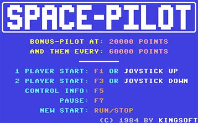 Space Pilot - Screenshot - Game Title