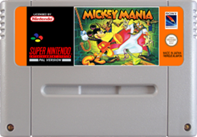 Mickey Mania: The Timeless Adventures of Mickey Mouse - Fanart - Cart - Front