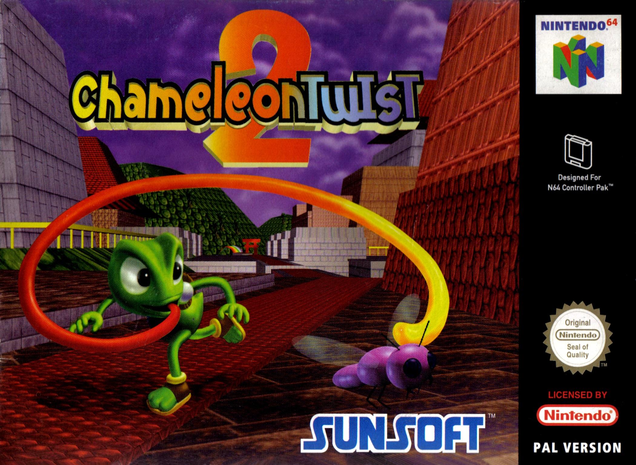 Resultado de imagen de chameleon twist 2 boxart europa