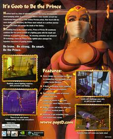 Prince of Persia 3D - Box - Back