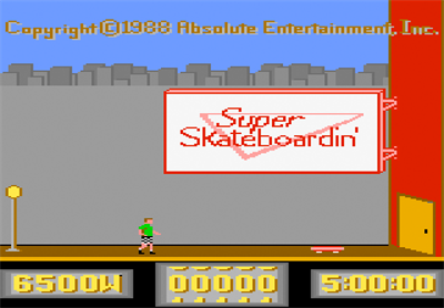 Super Skateboardin' - Screenshot - Game Title