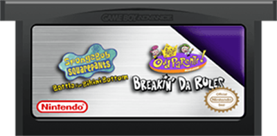 2 Games in 1: SpongeBob SquarePants: Battle for Bikini Bottom + The Fairly OddParents!: Breakin' da Rules - Cart - Front