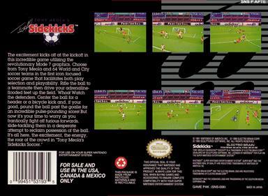 Tony Meola's Sidekicks Soccer - Box - Back