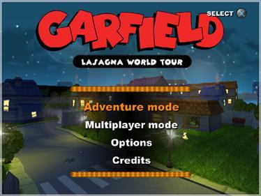 Garfield: Lasagna World Tour - Screenshot - Game Select