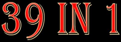 39 In 1: MAME Arcade Classics Bootleg - Clear Logo
