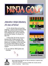 Ninja Golf - Box - Back