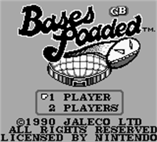 Bases Loaded for Game Boy - Screenshot - Game Title