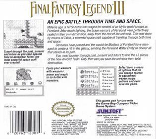 Final Fantasy Legend III - Box - Back - Reconstructed